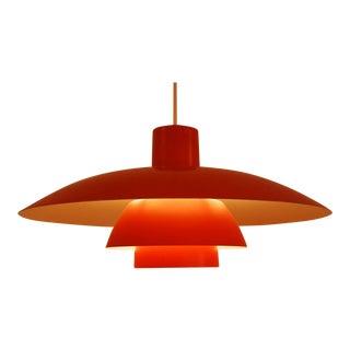 Orange PH 4/3 hanging lamp by Poul Henningsen for Louis Poulsen