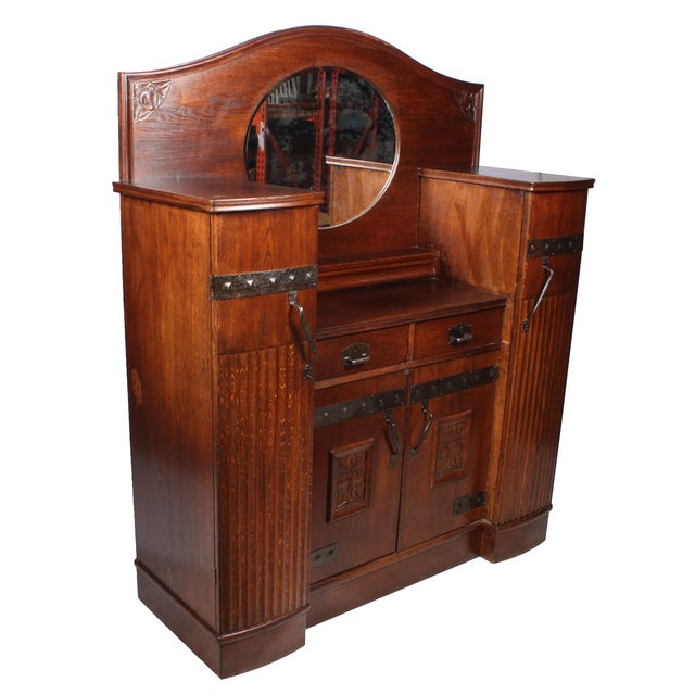 Antique German Arts & Crafts Style Cabinet - Image 3 of 7