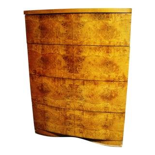 Reserved. Vintage Burl Wood Highboy Dresser