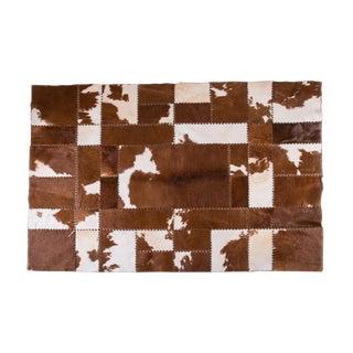 "Handmade Cowhide Patchwork Area Rug - 7'9""x5'9"""