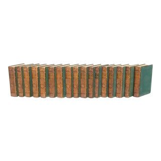 """Pierre Larousse French """"Grand Dictionaire Universel"""" Antique Books - Set of 17"""