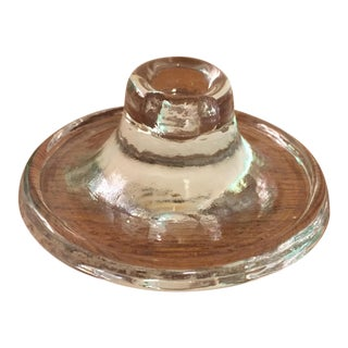 Blenko Glass Candle Holder
