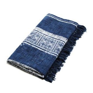 Stripe Batik Geometric Throw