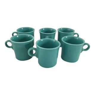 Fiesta Turquoise Coffee Mugs - Set of 6