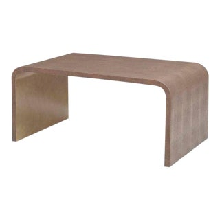 Julian Chichester Rene Leather Shagreen Coffee Table