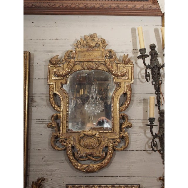 Image of 19th Century Italian Carved Giltwood Mirror