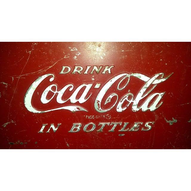 1955 Original Coca Cola Cooler Drink Server - Image 3 of 9