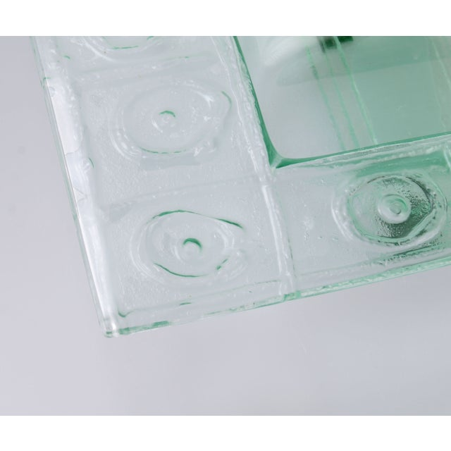 Floating Green Glass Centerpiece Tray - Image 7 of 11