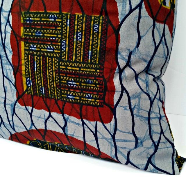 XL African Wax Print Fabric Pillow - Image 3 of 4