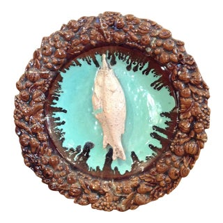 French Majolica Decorative Fish Plaque