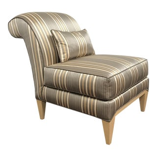 RJones Striped Silk Midtown Slipper Chair
