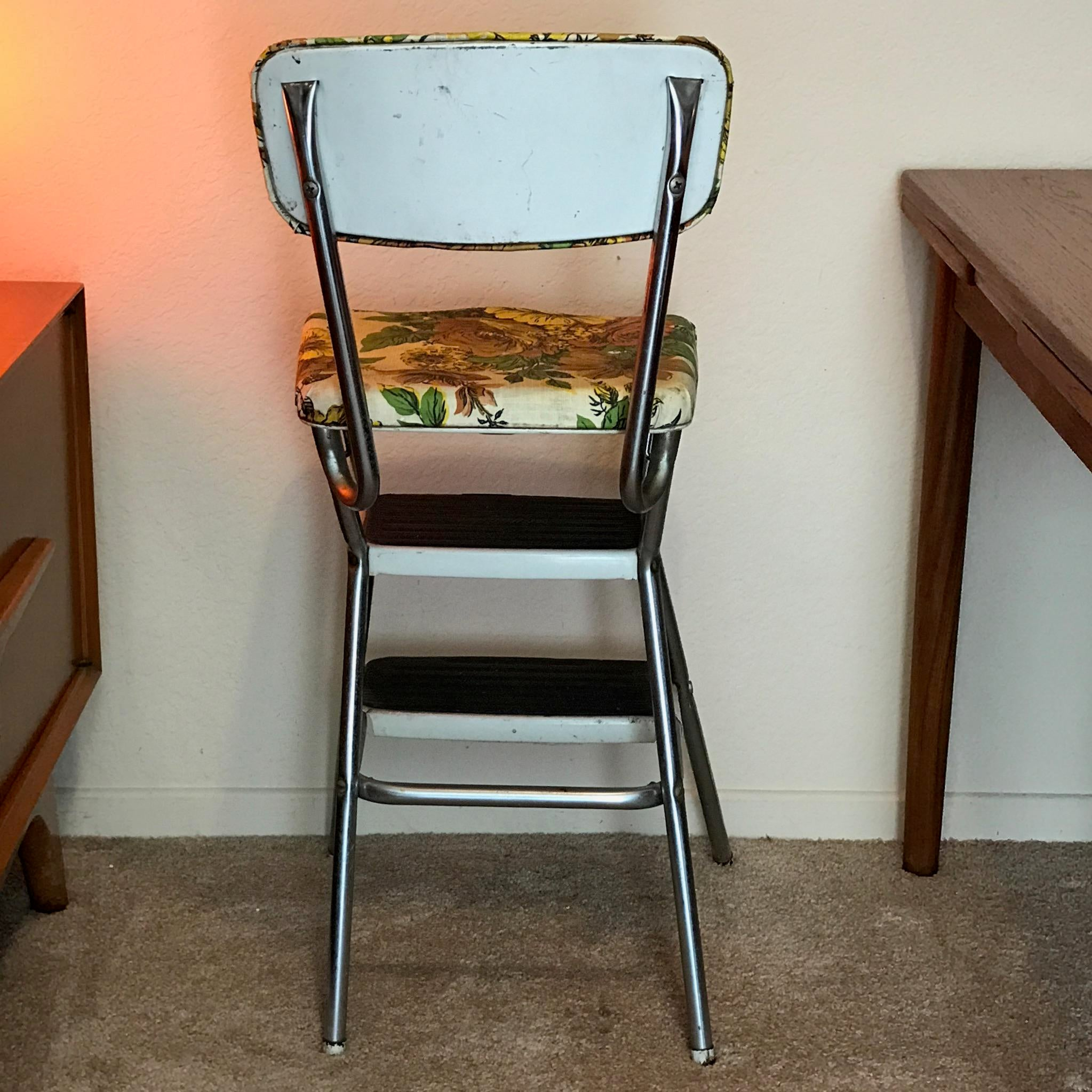 Vintage Mid Century Modern Cosco Step Stool Kitchen Chair   Image 6 Of 9