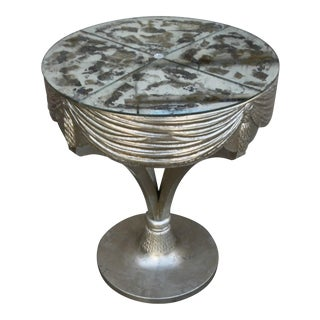 Grosfeld House Silvered Table With Mirrored Top