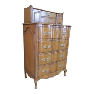 French Provincial Faux Painted Tall Chest