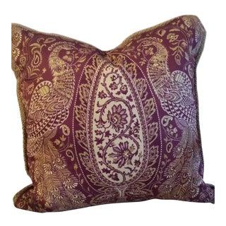 Custom Peacock & Paisley Pillow