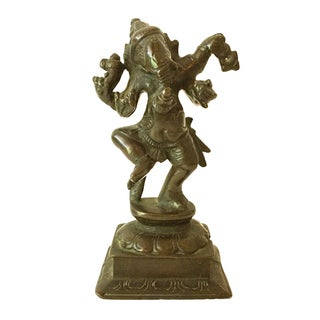 Antique Indian Ganesh Bronze Figurine