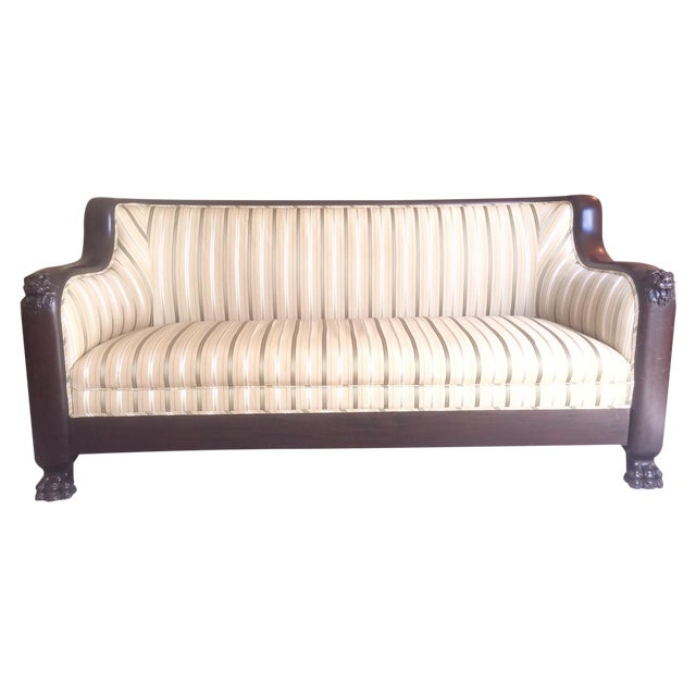 Victorian Mahogany Lions Head Sofa - Image 1 of 6