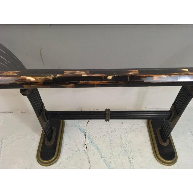 Image of Maitland Smith Horn & Brass Console Table