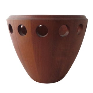 Danish Modern Staved Teak Fruit Bowl by Jens Quist