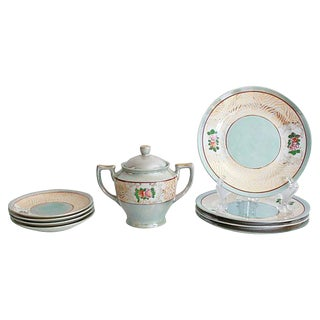 Lusterware Lunch Dish Set - 9 Pieces