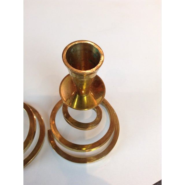Brass Coil Candlesticks - A Pair - Image 6 of 6