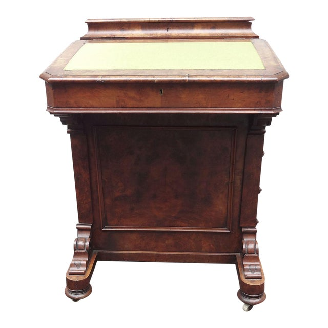 English Walnut Davenport Desk - Image 1 of 9