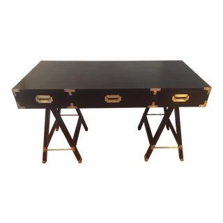 Campaign Black Lacquer Desk