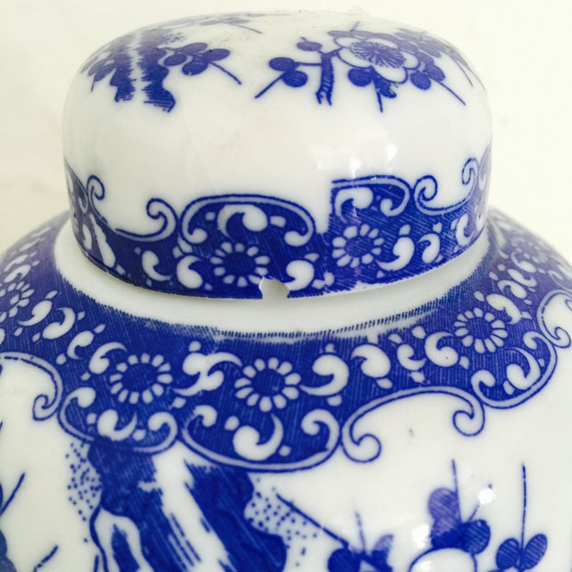Mini Chinoiserie Blue & White Ginger Jar - Image 7 of 7