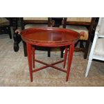 Image of English Red Oval Table Tray