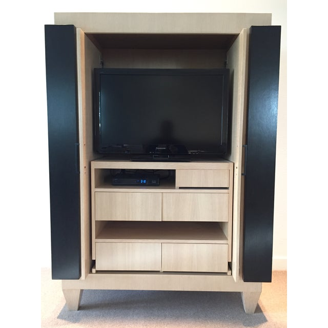 Ash & Wenge Armoire Media Cabinet - Image 4 of 5