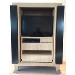 Image of Ash & Wenge Armoire Media Cabinet