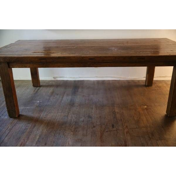 natural elm wood farm dining room work table chairish