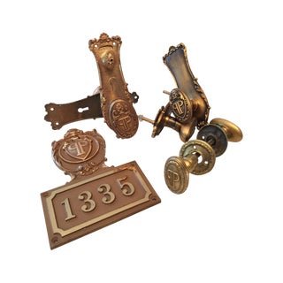 Door Hardware From the Plaza Hotel - Set of 13