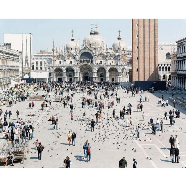 """27 Venezia San Marco from """"A Portfolio of Landscapes with Figures"""" color photography print by Massimo Vitali - Image 3 of 3"""