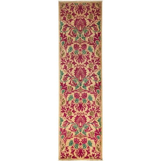 "Arts & Crafts Hand Knotted Runner - 2'9"" X 9'8"""