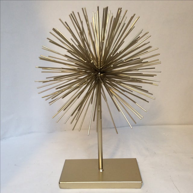 Large Gold Star Burst on Stand - Image 6 of 6