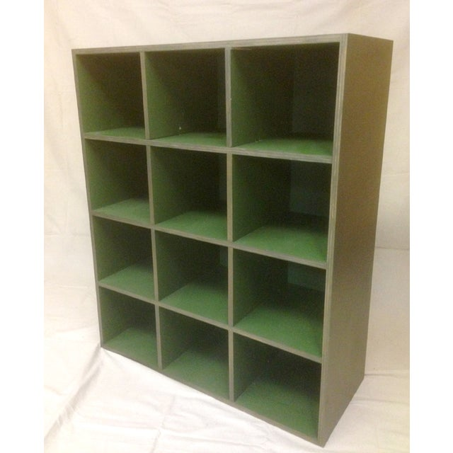 Metallic and Green Cubby Shelf Unit - Image 3 of 6