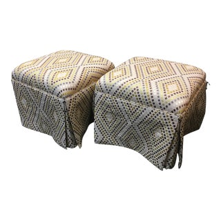 Custom Made Ottoman on Wheels - Set of 2