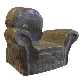 Strauch Style Brutalist Stone Armchair Sculpture