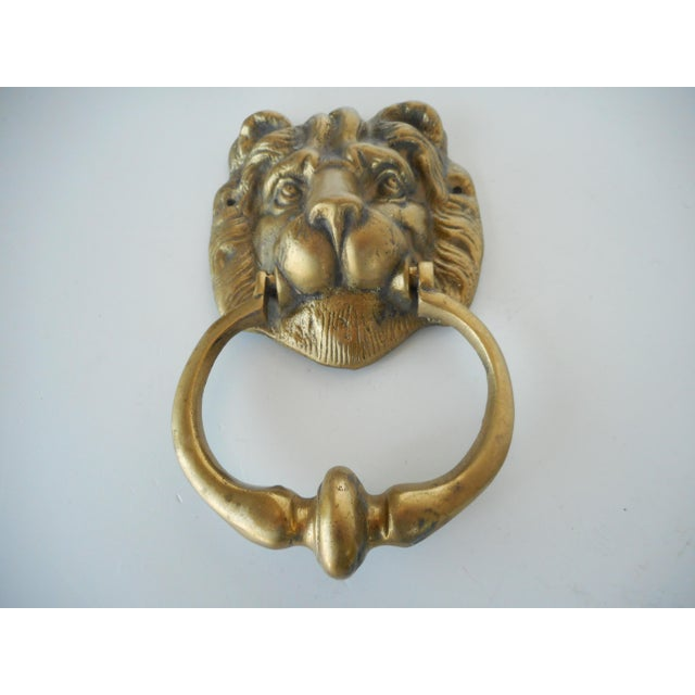 Vintage Brass Lion Head Door Knocker - Image 3 of 8 - Vintage Brass Lion Head Door Knocker Chairish