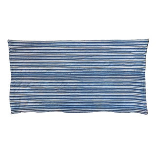 "Indigo Blue Striped Throw - 2'7"" x 5'2"""