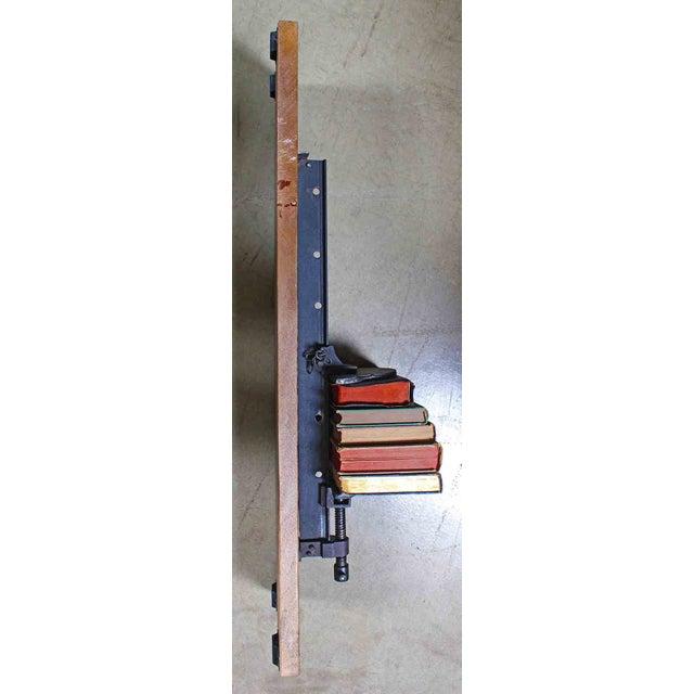 Industrial Chic Iron & Wood Machinery Bookshelf - Image 3 of 4