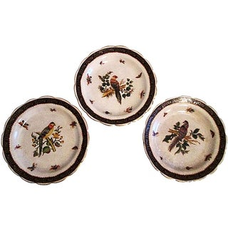 Exotic Asian Bird Wall Plates - Set of 3