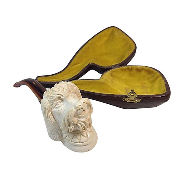 Image of Meerschaum Poodle's Head Pipe W/ Case