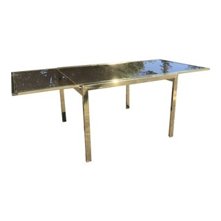 DIA Milo Baughman Brass Extendable Dining Table