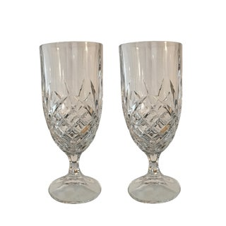 Vintage Crystal Mid-Century Modern Goblet Glasses - A Pair