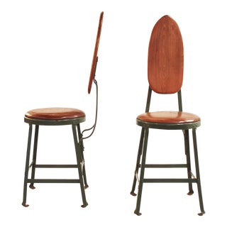 Pair of Mid-Century Modern French Side Chairs In The Style of Jean Prouve