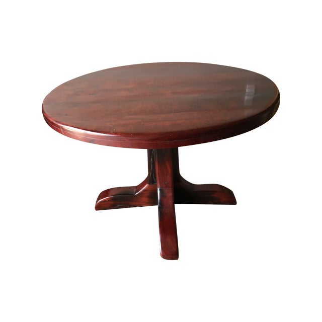Red Round Dining Table: Red Jarrah Round Game Or Dining Table