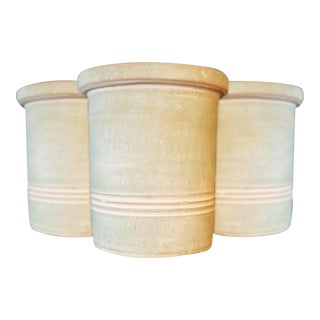 Kalalou Light Green Clay Pots - Set of 3