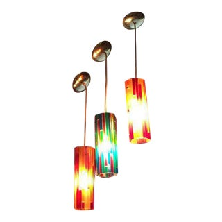 Mid-Century 1960's Hanging Resin Lamps - Set of 3